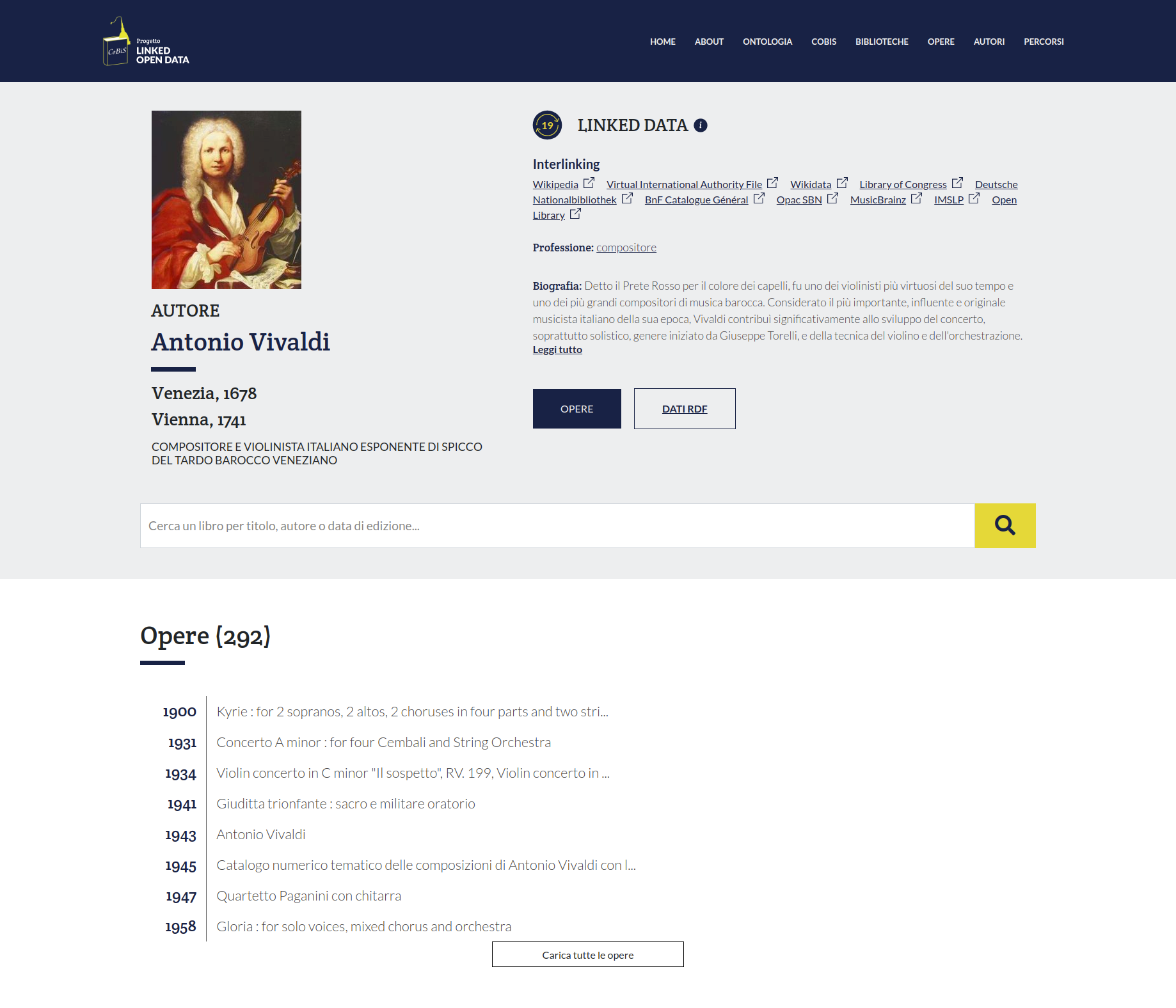 Pagina di Antonio Vivaldi